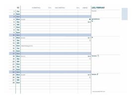 Quo Vadis Kalender 2022 Plain - 10x15cm