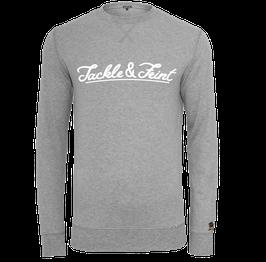 """Light Crewneck Sweater """"TandF"""" Grey"""