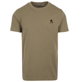 "T-Shirt ""Racoonigan Refined"" Olive"