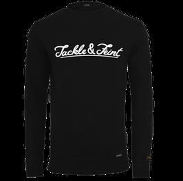 "Light Crewneck Sweater ""TandF"" Black"