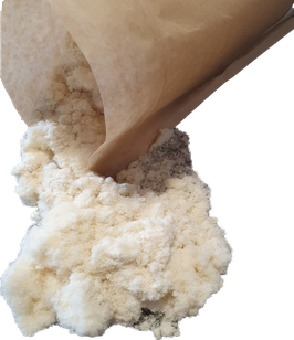 Schneckenschutzmehl aus reiner Schafwolle