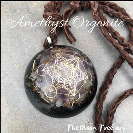 Amethyst Luxe Orgonite ™ Pendant