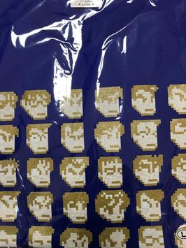 ダウンタウン全員集合Tシャツ【青・金】