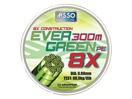 TRECCIATO ASSO EVER GREEN 8X 300MT
