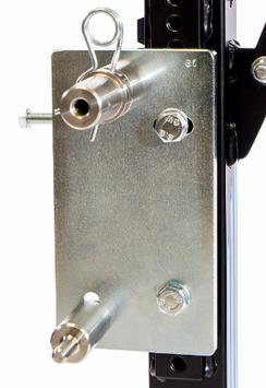 Adapterplatte mit Bolzen für Zentralmontageständer