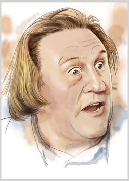 Porträt-Skizze_Gérard Depardieu. POR09.