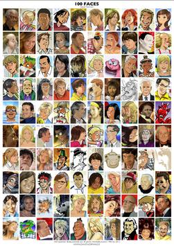 100 faces. P0S08.