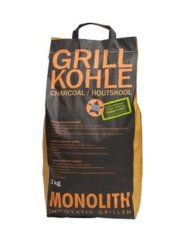 MONOLITH High-End Grillkohle 3 kg Sack