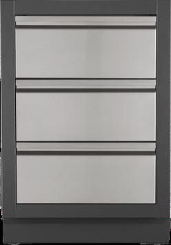 OASI Schrank mit 2 Schubladen und 1 Blindfach für SIZZLE-ZONE Einbau