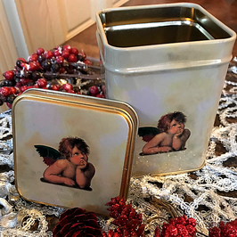 Angel tea tin