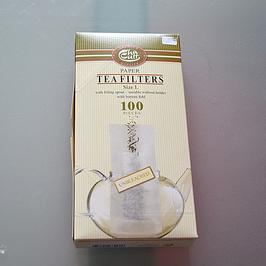 Filtres à théière en papier non blanchi