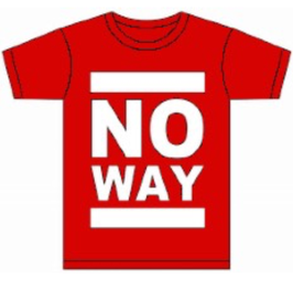 No Way Shirt - Classic Logo - RED / WHT