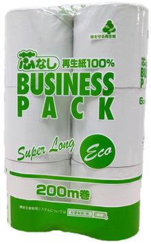 【芯なし】ビジネスパック200m Super Long     6ロール シングル