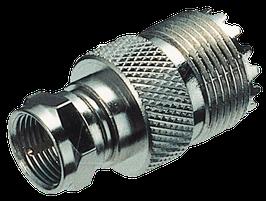 Adapter PL-Buchse auf F-Stecker