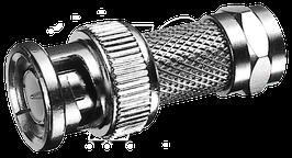 Adapter BNC-Stecker auf F-Stecker
