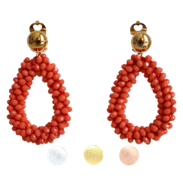 Ohrclips BERRIES in Apricot-Orange