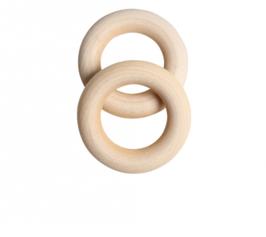 Greifring aus Holz,  4,5 cm / 2 Stück