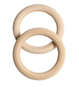 Greifring aus Holz,  6,8 cm / 2 Stück