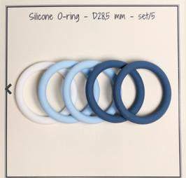 O-Ring für Schnullerkette, Silikon, 28,5 mm, Blaumix
