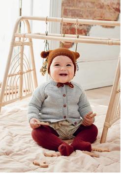 Strickset Baby Pom Pom Mütze,2014-01A, Sandnes Garn