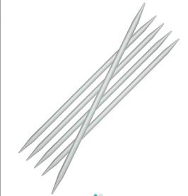 """KNIT PRO, NADELSPIEL """"BASIX"""", ALUMINIUM 20 cm"""