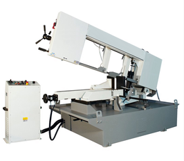 Hydraulic semi auto bandsaw with Inverter hydraulic vice