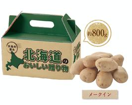 【最安値】大地の恵み 北海道産じゃがいも800g メークイン   298×30箱【送料無料】