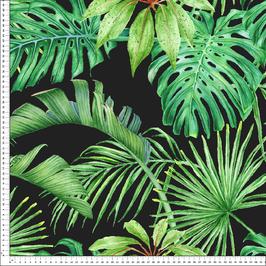 Loneta tropical fondo negro