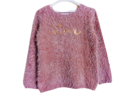 """Pull maille polue """"Love"""" 8 ans"""