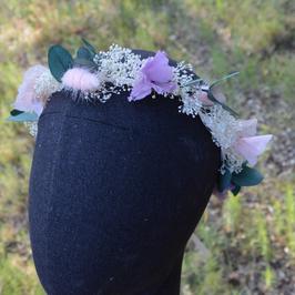 Couronne de fleurs éternelles.