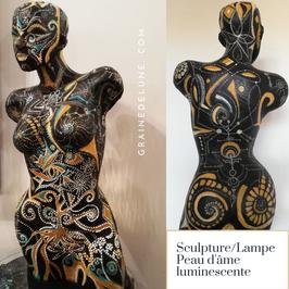 Sculpture ''Peau d'âme Luminescente''