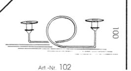 Kerzenständer aus Glas klar oder satiniert für zwei Spitzkerzen Höhe ca 100 mm