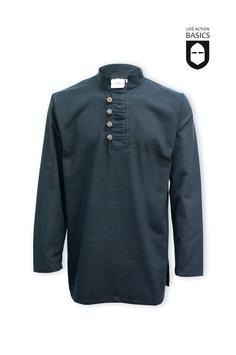 Hemd geknöpft, schwarz