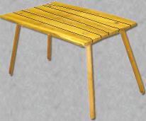 einfacher Lagertisch
