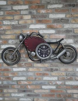 Töff Uhr Bike Wanduhr Vintage Design Retro Motorrad Motorbike Deko Cafe Bar Einrichtung