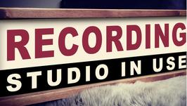 RECORDING Schild Band Studio Tonstudio Retro Leuchtbox Vintage Lightbox beleuchtetes Display Nostalgie Symbol Influencer Youtube Metallschild