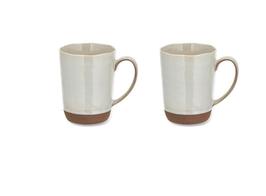 Terrakotta Design Tasse Handarbeit Kaffeetasse geformt natürliche Konturen Terrakottatasse mit Griff lasiert