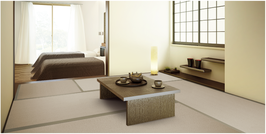 銀白カラー品〈14 灰桜色〉五八サイズ 畳新調 縁(へり)付き 和紙表 引目