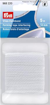Vlies-Formband weiß & anthrazit