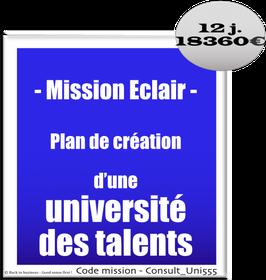 Mission Eclair - 3 - Plan de création d'une université des talents