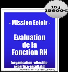 Mission Eclair - 3 - Evaluation de la Fonction RH (organisation-effectifs-expertise-résultats)