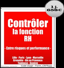 202 - Contrôler la fonction RH - Entre risques et performance - 1 jour