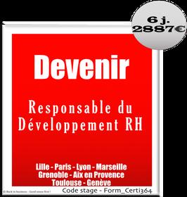 13 - Devenir Responsable du Développement RH - 6 jours