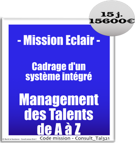 Mission Eclair - 7 - Cadrage d'un système intégré Management des Talents de A à Z