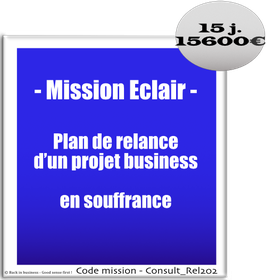 Mission Eclair - 3 - Plan de relance d'un projet business en souffrance