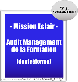 Mission Eclair - 909 - Audit Management de la Formation (dont réforme)
