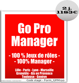 702 - Go Pro Manager  - 100 % Jeux de rôles - 100% Manager - 2 jours