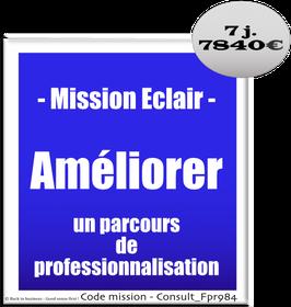 Mission Eclair - 912 - Améliorer un parcours de professionnalisation