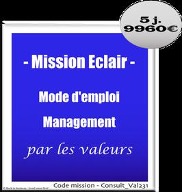 Mission Eclair - 4 - Management par les valeurs - Mode d'emploi