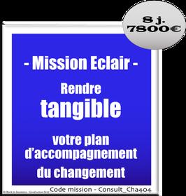 Mission Eclair - 1 - Rendre tangible votre plan d'accompagnement du changement